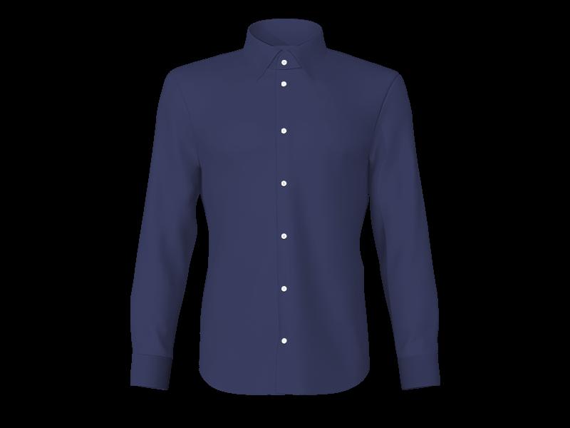 Camicia popeline blu