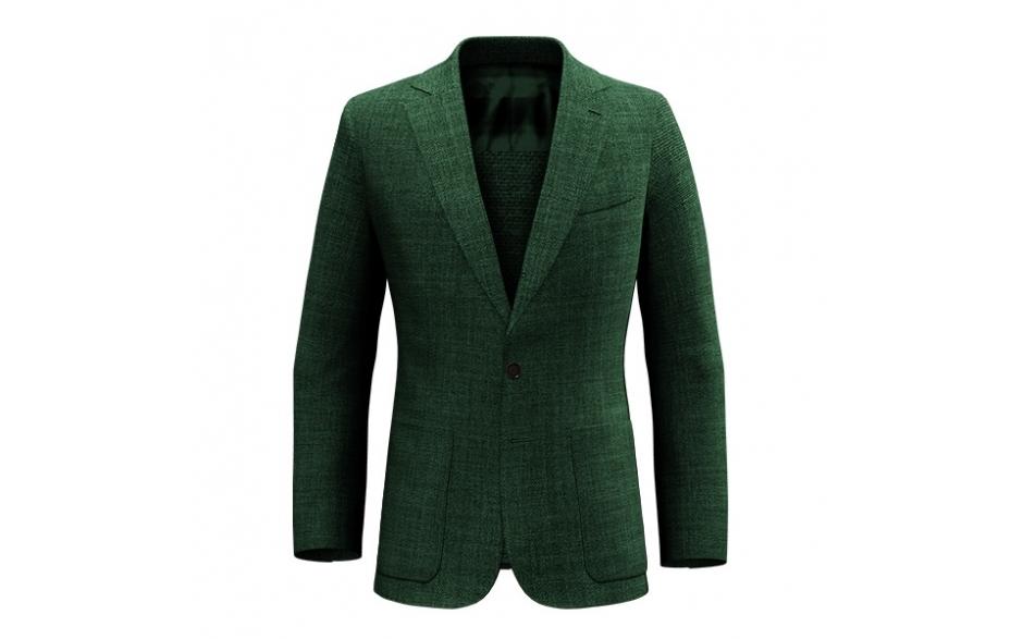 Abito cotone verde
