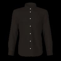 Camicia popeline nero