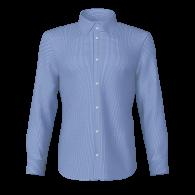 Camicia quadro piccolo blu