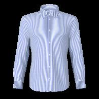 Camicia rigato stretto blu