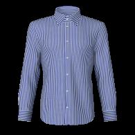 Camicia rigato largo blu