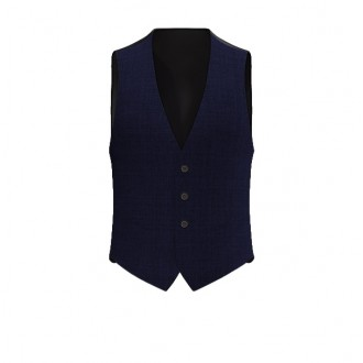 Gilet Luxury Microdots Blu scuro