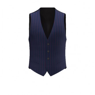Gilet luxury blu riga larga rossa