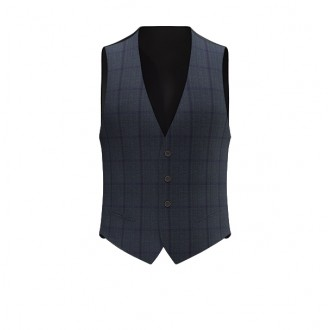 Gilet luxury finestrato verde