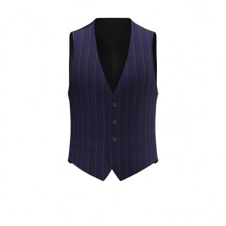 Gilet luxury blu riga scuro riga larga 3D