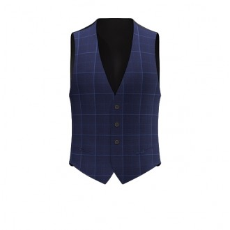 Gilet luxury principe di galles blu scuro