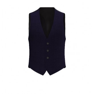 Gilet Luxury finestrato blu scuro