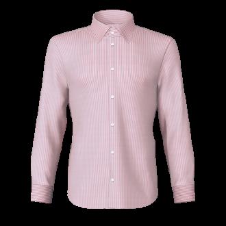 Camicia rigato rosa