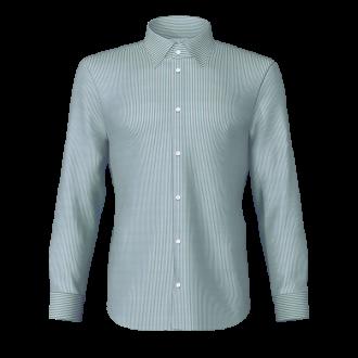 Camicia rigato verde