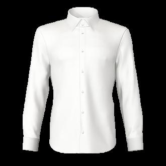 Camicia fil a fil bianco