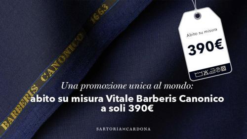 UNA PROMOZIONE UNICA AL MONDO: ABITO SU MISURA VITALE BARBERIS CANONICO A SOLI 390€